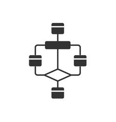 Flowchart glyph icon diagram visualization of vector