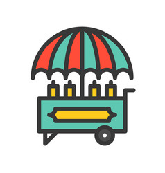 Food cart icon filled outline style editable vector