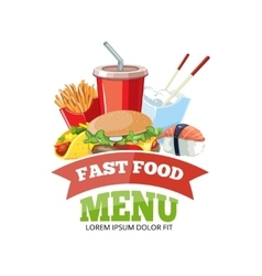 For fast food menu vector