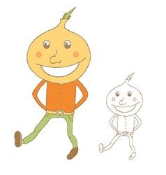 Funny Cartoon onion vector image