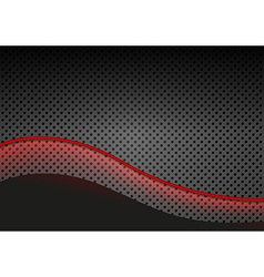Glowing Red Line over Dotted Metallic Background vector