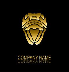 golden snake symbol vector image