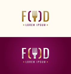 Graphic sign for restaurant or cafe vector image