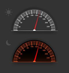 Gray analog speedometer vector
