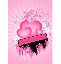 hearts poster vector image