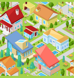 house isometric housing architecture or vector image