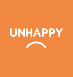 Icon concept of unhappy word with sulking mouth vector