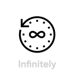 infinitely time icon editable outline vector image