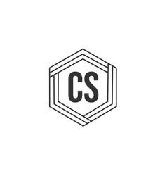 initial letter cs logo template design vector image