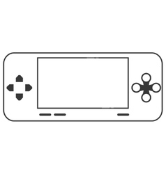 mobile video game console icon vector image