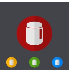 modern circle icons set on gray vector image