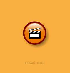 movie clapperboard icon filming tool vector image