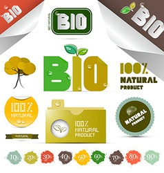 Natural Product Labels - Tags - Stickers Set vector image