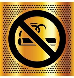 No smoking symbol on a bronze background vector