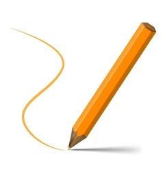 Orange pencil vector image