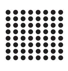 Polka dot icon on white background flat style vector