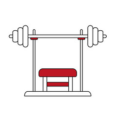 Press bench vector