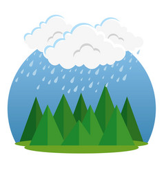 Rainy weather forecast vector