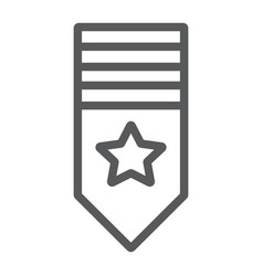 Rank shoulder line icon badge and army epaulette vector