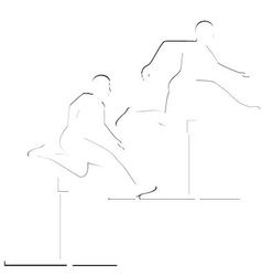 Running hurdles vector