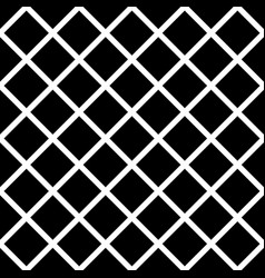 Seamless black and white diagonal square pattern vector