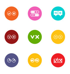 selection icons set flat style vector image