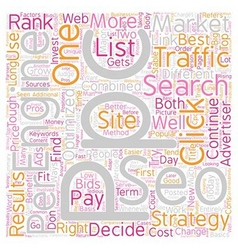 SEO or PPC Which One is Right for You text vector image