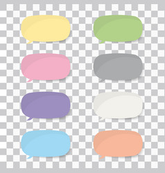 set of colorful stickers with shadow vector image