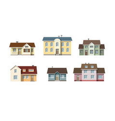 Set with classic family houses vector