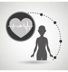 Silhouette woman healthy medicine vector