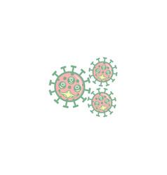 Simple coronavirus monster design vector
