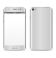 Smartphone mobile phone isolated with blank vector