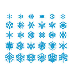 Snowflakes isolated on white background clipart vector