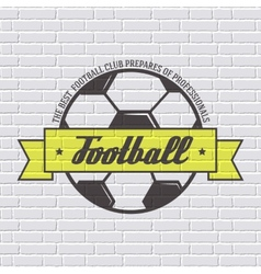 Soccer color logo or label template with blurred vector