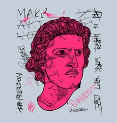 spartacus sculpture hand vector image
