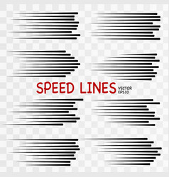 Speed line vector