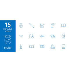 study icons vector image