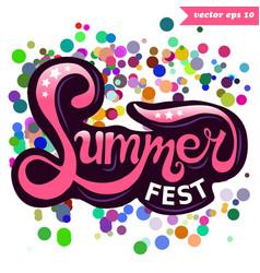 Summer fest vector
