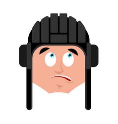Tankman confused oops emoji russian soldier vector