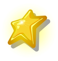 The yellow star on a white background vector image