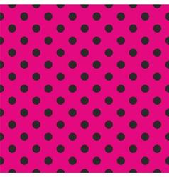 Tile black polka dots on pink background vector image vector image