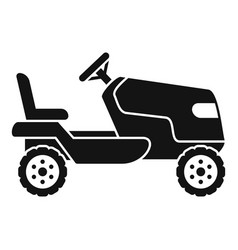 Tractor grass cutter icon simple style vector
