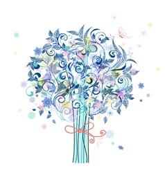Tree flowers vector