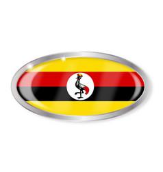 Uganda flag oval button vector