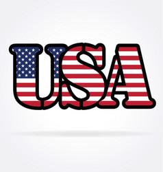 Usa flag text vector
