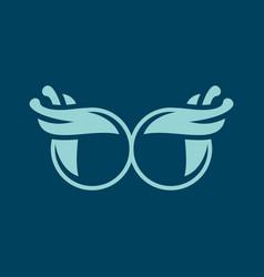 vintage glasses sign vector image