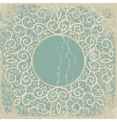 Vintage luxury background with abstract floral vector image vector image