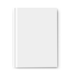White book template mockup isolated vector