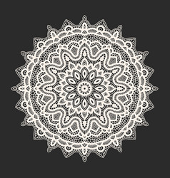 white lace pattern over black background vector image