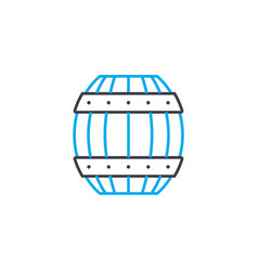 wooden barrel linear icon concept wooden barrel vector image
